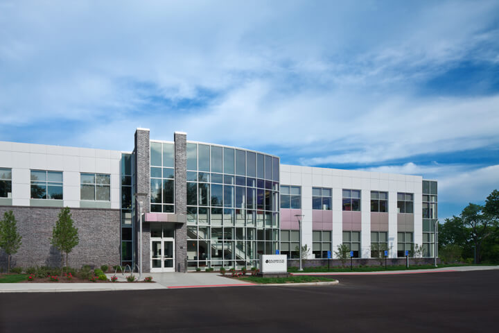 Outside view of Benjamin Rose Institute on Aging Headquarters building